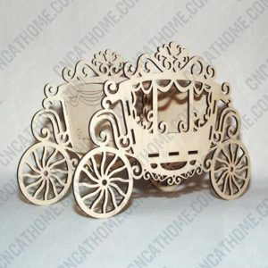 Carriage box decor design files - DXF SVG EPS AI CDR P005