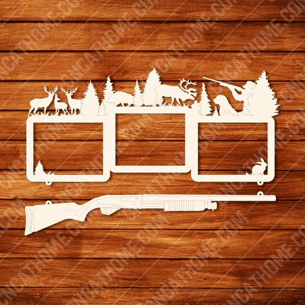 Hunting Photo Frame design files - DXF SVG EPS AI CDR