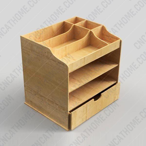 Desk Organizer design files - DXF SVG EPS AI CDR P0013