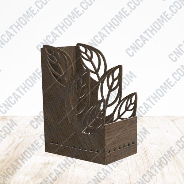 Leaf Pen Holder design files - DXF SVG EPS AI CDR