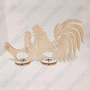 Rooster and chicken vector design files – DXF SVG EPS AI CDR