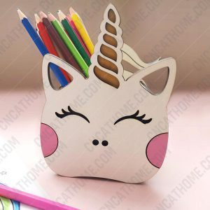 Unicorn Pen Holder design files - DXF SVG EPS AI CDR P008