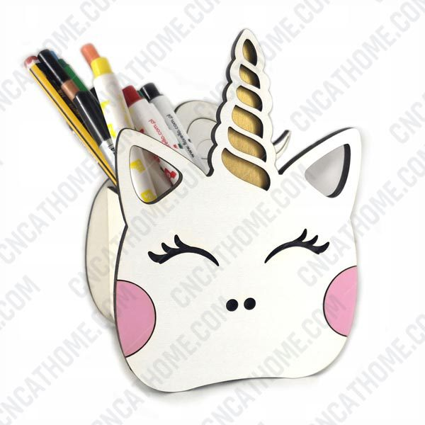 Unicorn Pen Holder design files - DXF SVG EPS AI CDR P008