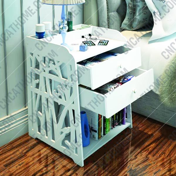 Shelf with drawers design files - DXF SVG EPS AI CDR P0022